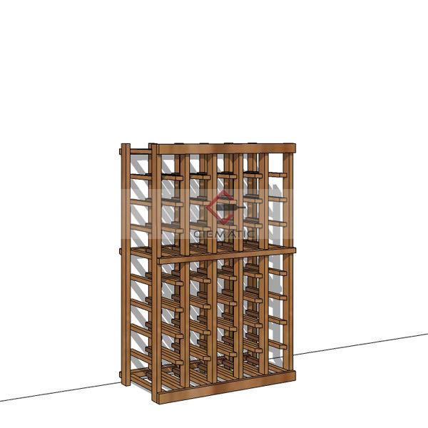premium red wood wine racking kits CR165