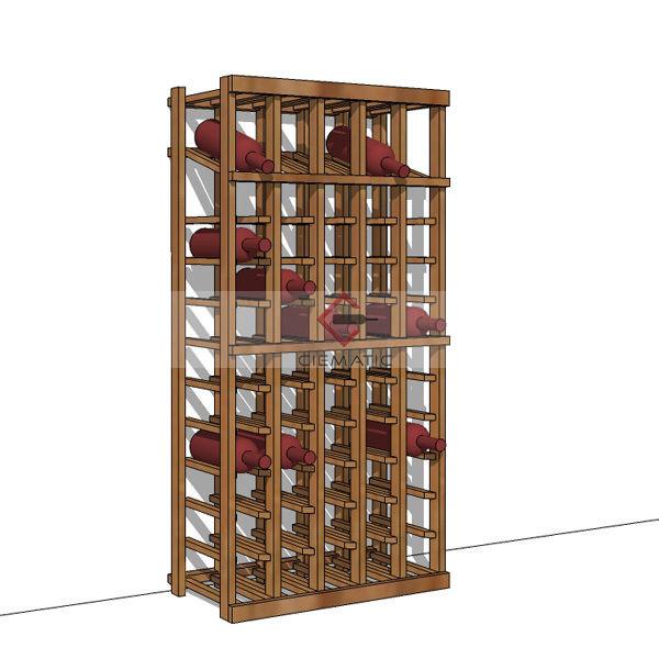 55 bottles wine rack kits