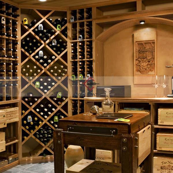 farmhouse wine cellar design