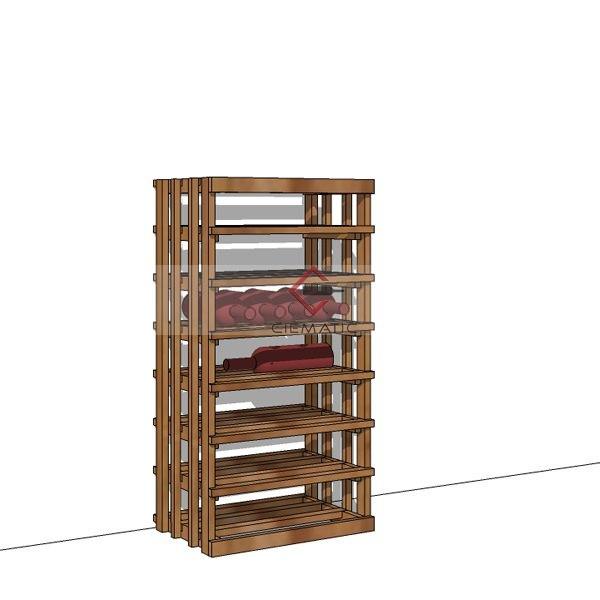 solid wine rack kits